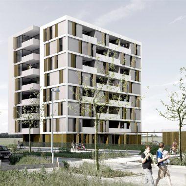 Mehrfachbeauftragung Wohnbau Otl-Aicher-Allee